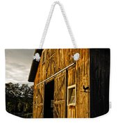 Sunset On The Horse Barn Weekender Tote Bag by Edward Fielding