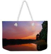 Sunset On The Kennebec River Weekender Tote Bag