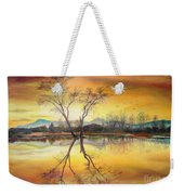 Sunset On The Lake  Weekender Tote Bag