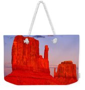 Sunset On The Mittens Weekender Tote Bag