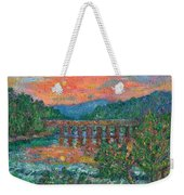 Sunset On The New River Weekender Tote Bag