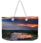 Sunset On The Payette  River Weekender Tote Bag