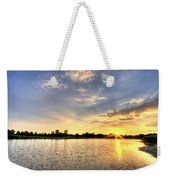 Sunset On The Pond Weekender Tote Bag