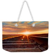 Sunset On The Rails Weekender Tote Bag