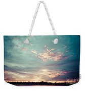 Sunset On The River In The Peruvian Amazon Jungle Weekender Tote Bag