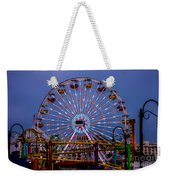 Sunset On The Santa Monica Ferris Wheel Weekender Tote Bag