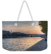 Sunset On The Seine Weekender Tote Bag