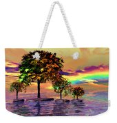 Sunset On Trees And Ocean Weekender Tote Bag