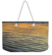Sunset On Wet Sandy Beach Seascape Fine Art Photography Print  Weekender Tote Bag