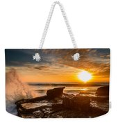 Sunset Over A Rough Sea I Weekender Tote Bag