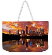 Sunset Over Austin Weekender Tote Bag