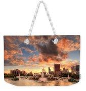 Sunset Over Buckingham Fountain Weekender Tote Bag