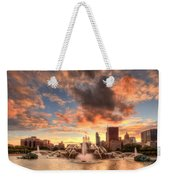 Sunset Over Buckingham Fountain Weekender Tote Bag