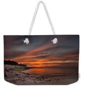Sunset Over Buzzards Bay Weekender Tote Bag