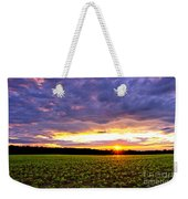 Sunset Over Farmland Weekender Tote Bag