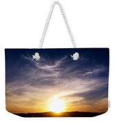 Sunset Over Hills With Clouds Weekender Tote Bag