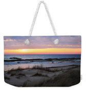 Sunset Over Ice Weekender Tote Bag