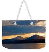 Sunset Over Lake Pend Oreille Weekender Tote Bag