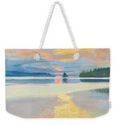 Sunset Over Lake Ruovesi Weekender Tote Bag