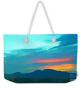 Sunset Over Las Vegas Hills Weekender Tote Bag