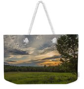 Sunset Over Lupine Fields Weekender Tote Bag
