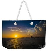 Sunset Over Miami From Out At Sea Weekender Tote Bag