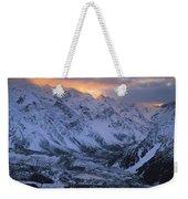 Sunset Over Mueller Glacier Lake Weekender Tote Bag