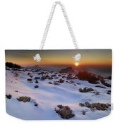 sunset over National park Sierra Nevada Weekender Tote Bag