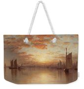 Sunset Over New York Bay Weekender Tote Bag