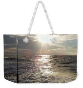 Sunset Over Nj After Fishing Weekender Tote Bag