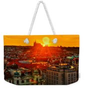 Sunset Over Prague Weekender Tote Bag