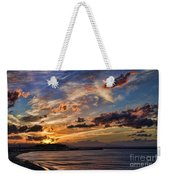 Sunset Over Rethymno Crete Weekender Tote Bag
