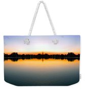 Sunset Over Still Waters Mirror Image Weekender Tote Bag