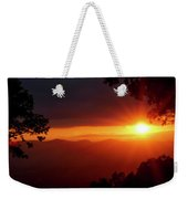 Sunset Over The Blue Ridge Mountains Weekender Tote Bag
