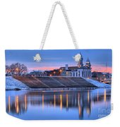 Sunset Over The Clinton County Courthouse Weekender Tote Bag