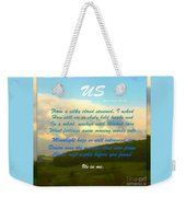 Sunset Over The Dales With Poem Weekender Tote Bag