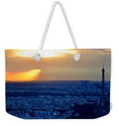 Sunset Over The Eiffel Tower Weekender Tote Bag