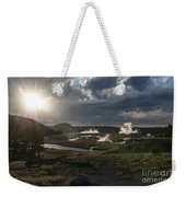 Sunset Over The Firehole River - Yellowstone Weekender Tote Bag