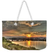 Sunset Over The Great Falls Weekender Tote Bag