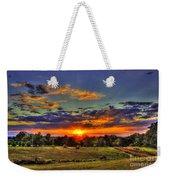 Sunset Over The Hay Field Weekender Tote Bag
