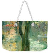 Sunset Over The Lake Bois De Boulogne Weekender Tote Bag