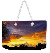 Sunset Over The Mc Dowell Mountains Weekender Tote Bag