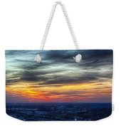 Sunset Over The Metro Weekender Tote Bag