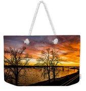 Sunset Over The Mississippi River Weekender Tote Bag
