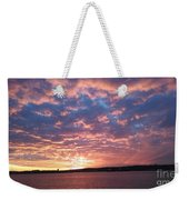 Sunset Over The Narrows Waterway Weekender Tote Bag
