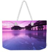 Sunset Over The Pier Weekender Tote Bag