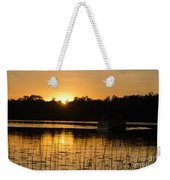 Sunset Over The Pontoon 4 Weekender Tote Bag
