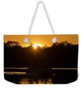 Sunset Over The Pontoon Weekender Tote Bag