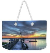 Sunset Over The River Weekender Tote Bag