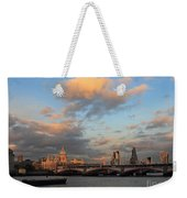 Sunset Over The River Thames London Weekender Tote Bag